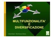 MULTIFUNZIONALITA' E DIVERSIFICAZIONE
