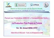 Production plus propre - Regional Activity Centre for Cleaner ...