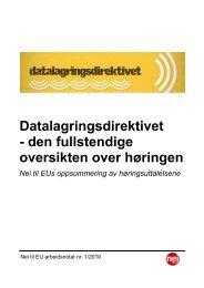 Arb notat 1 2010 DLD.pdf - Nei til EU