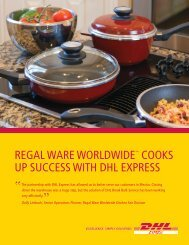 Regal Ware Case Study - DHL