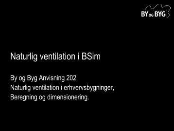 Naturlig ventilation i BSim
