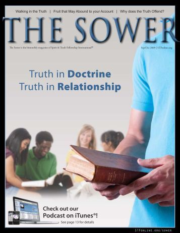 Truth in Doctrine Truth in Relationship - Spirit & Truth Fellowship ...