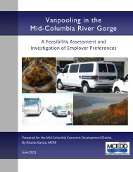 Vanpooling in the Mid-Columbia River Gorge - mcedd