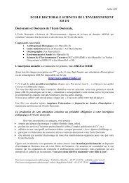 ecole doctorale sciences de l environnement ed 251 - Timone.univ ...
