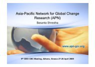 Asia-Pacific Network for Global Change Research - Group on Earth ...