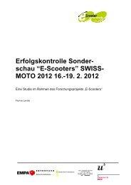 """E-Scooters"" SWISS- MOTO 2012 16. - NewRide"