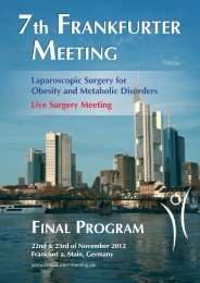 scientific program - 7th Frankfurter Meeting 22.+23.11.2012