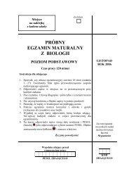 próbny egzamin maturalny z biologii poziom podstawowy - Gazeta.pl