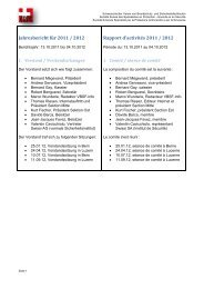 Jahresbericht für 2011 / 2012 Rapport d'activités 2011 / 2012 - VBSF