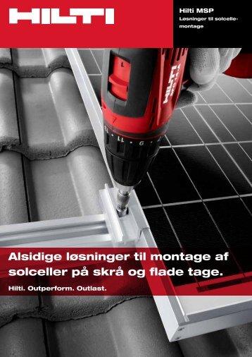 Alsidige løsninger til montage af solceller på skrå og flade tage.