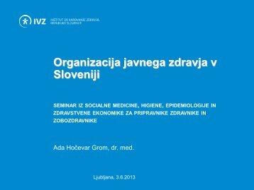 organizacija javnega zdravja v sloveniji - IVZ RS