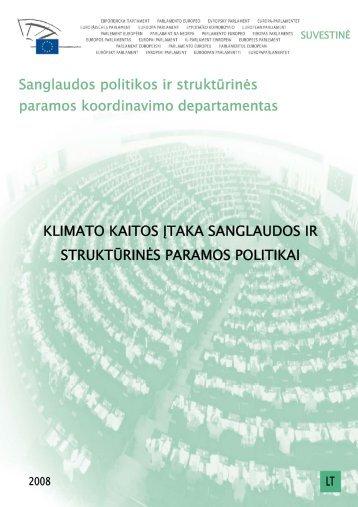 Klimato kaitos įtaka sanglaudos ir struktūrinės paramos politikai ...