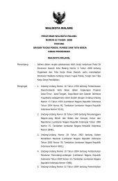 Peraturan Walikota Malang Nomor 52 Tahun 2008 tentang Uraian ...