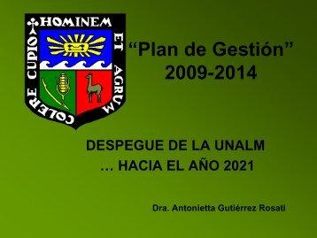 """""""Plan de Gestión"""" 2009-2014 - Universidad Nacional Agraria La ..."""
