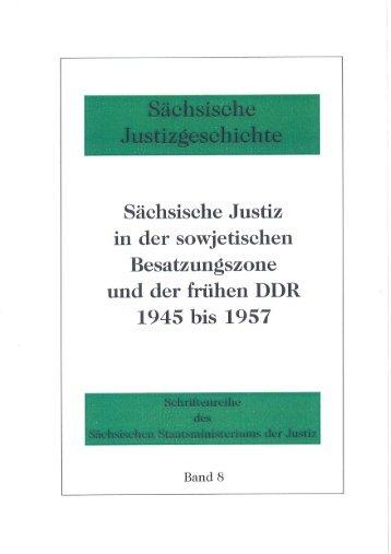 Band 8 - Justiz in Sachsen