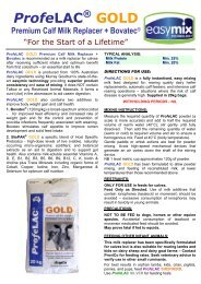 ProfeLAC ® GOLD Premium Calf Milk Replacer + Bovatec - Agsure