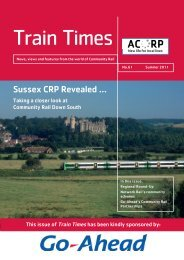Sussex CRP Revealed - Association of Community Rail Partnerships