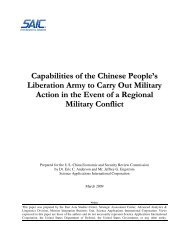 Capabilities of the Chinese People's Liberation Army to Carry Out ...