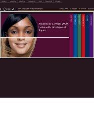 Download complete interactive microsite PDF - L'Oréal: 2009 ...