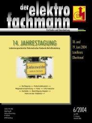14. JAHRESTAGUNG - Elektro-Innung Berlin