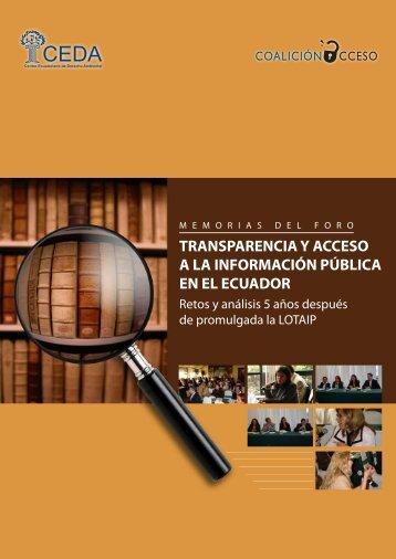 transparencia y acceso a la información pública en el ecuador