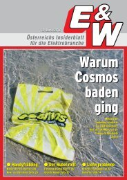 Österreichs Insiderblatt für die Elektrobranche 3/März 2010 - E&W