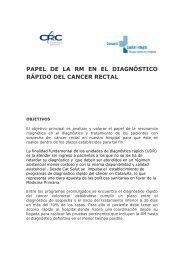 papel de la rm en el diagnóstico rápido del cancer rectal