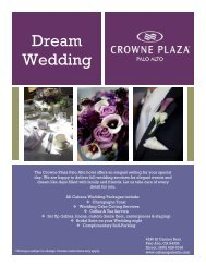 Wedding Menus and Packages - Crowne Plaza Palo Alto