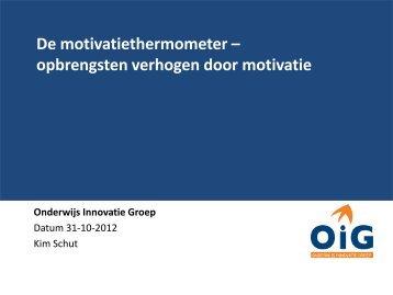 De motivatiethermometer - Kim Schut - PO-raad