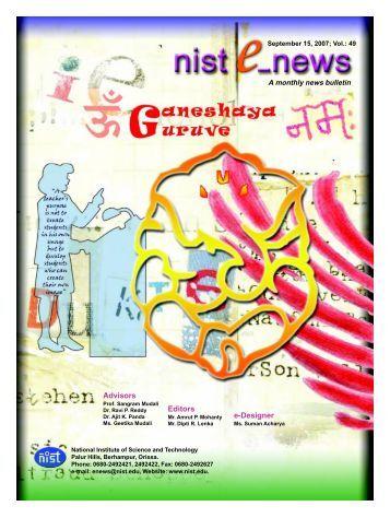 NIST e-NEWS(Vol 49, Sept 15, 2007)