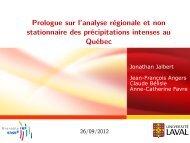 Prologue sur l'analyse régionale et non stationnaire des ... - Mistis