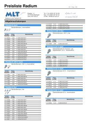 Preisliste Radium 060509 - MLT Licht-Technik AG