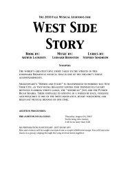 West Side Story - Adlai E. Stevenson High School