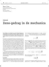 Zeno-gedrag in de mechanica - Nieuw Archief voor Wiskunde
