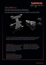 TAB-CARKIT 10 Car kit universel pour tablettes - Lenco