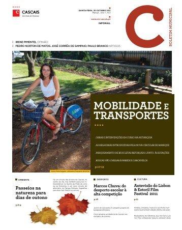 MOBILIDADE E TRANSPORTES - Câmara Municipal de Cascais