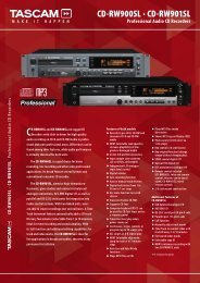 CD-RW900SL · CD-RW901SL - Kinovox