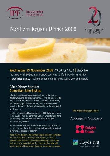 Northern Region Dinner 2008 - IPF