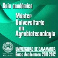 Degrees (prospectus) - Universidad de Salamanca