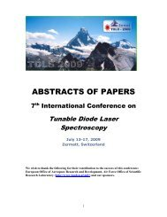 abstracts of papers - 8th International Conference - Tunable Diode ...