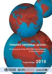Towards universal access - libdoc.who.int - World Health Organization