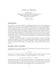 Constitutive Equations