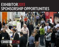 Sponsorship Opportunities - Exhibitor Magazine
