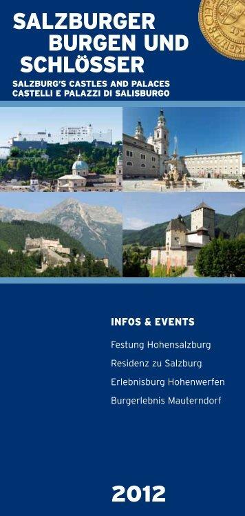 SALZBURGER BURGEN UND SCHLOSSER 2012 - Salzburgs ...