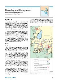 Beverley and Honeymoon uranium projects - MISA