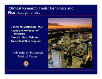 Pharmacogenomics - University of Pittsburgh