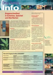 Labtec Mailing 1/04 - Drugtesting, Ihr Partner für zuverlässige ...