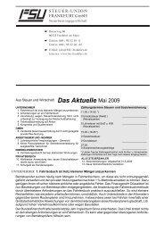 Aus Steuer und Wirtschaft Das Aktuelle Mai 2009