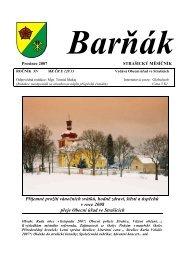 prosinec 2007 - obec Strašice