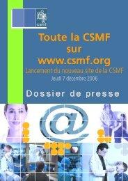Dossier de presse lancement site - CSMF